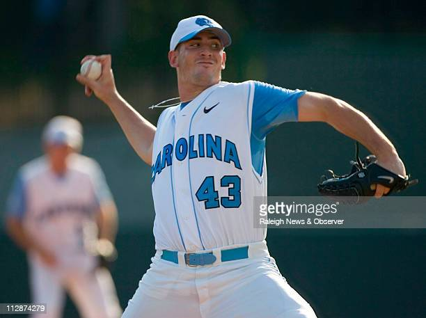 North Carolina pitcher Matt Harvey pitches against Dartmouth in the first inning on Friday May 29 at Boshamer Stadium during the NCAA baseball...