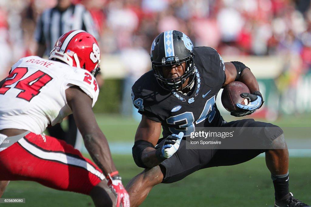 NCAA FOOTBALL: NOV 25 NC State at North Carolina : News Photo
