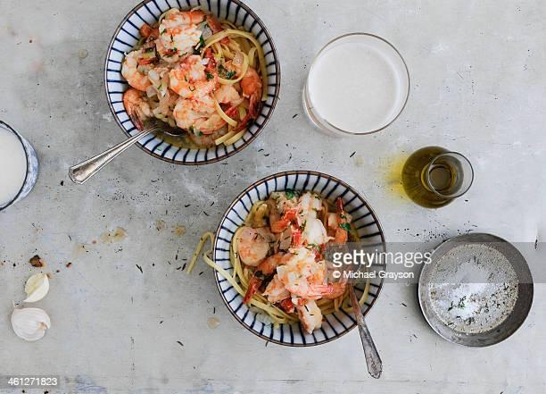 North Carolina Shrimp and Linguine