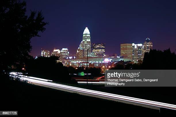 North Carolina Skyline at Night