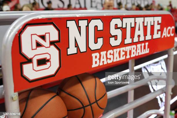 North Carolina State Wolfpack basketball holder during the 1st half of the NC State Wolfpack game versus the UNC Asheville Bulldogs on November 13 at...