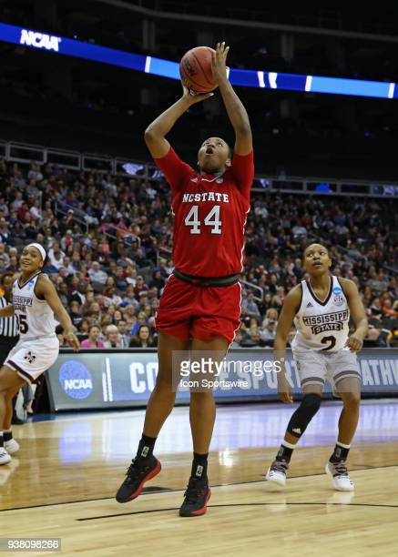 North Carolina State Wolfpack center Nae Nae Cole gets an easy basket in the second quarter of a third round NCAA Division l Women's Championship...