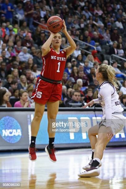 North Carolina State Wolfpack guard Aislinn Konig shoots a jumper in the first quarter of a third round NCAA Division l Women's Championship game...