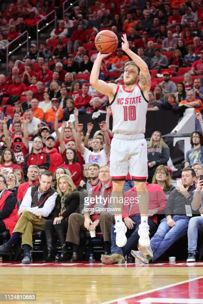 North Carolina State Wolfpack guard Braxton Beverly shoots the ball during the 1st half of the NC State Wolfpack game versus the Syracuse Orange on...
