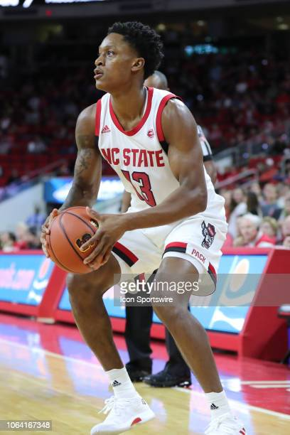 North Carolina State Wolfpack guard CJ Bryce during the 1st half of the NC State Wolfpack game versus the Saint Peter's Peacocks on November 20th at...