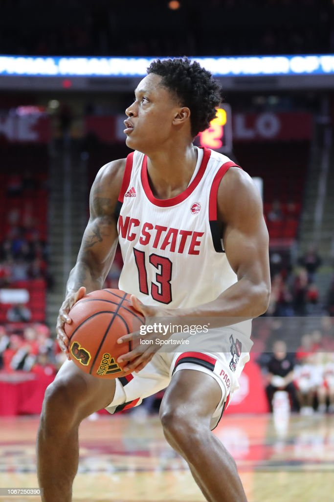 North Carolina State Wolfpack guard C J  Bryce with the ball