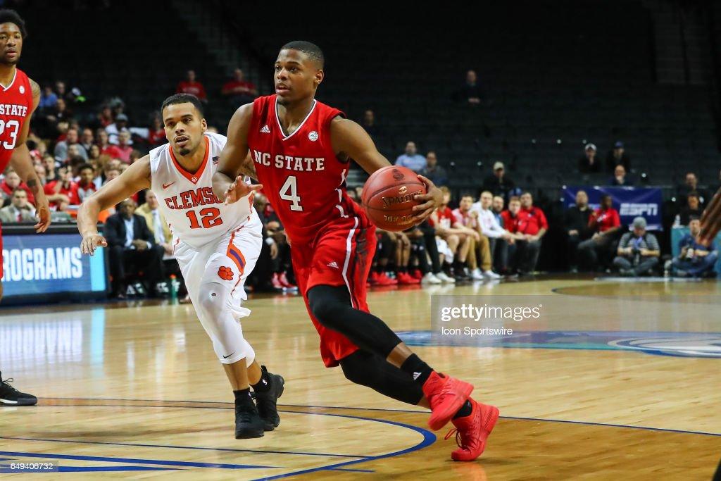 COLLEGE BASKETBALL: MAR 07 ACC Tournament - Clemson v North Carolina State : Fotografía de noticias
