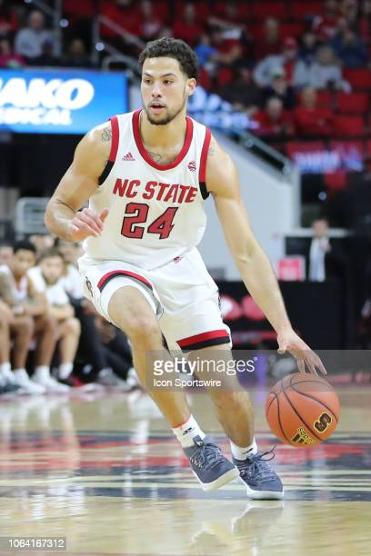 North Carolina State Wolfpack guard Devon Daniels during the 1st half of the NC State Wolfpack game versus the Saint Peter's Peacocks on November...