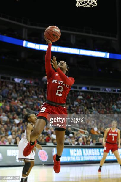 North Carolina State Wolfpack guard Kaila Ealey gets an easy layup in the first quarter of a third round NCAA Division l Women's Championship game...
