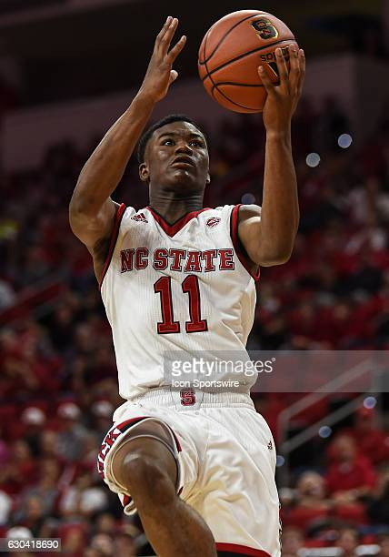 North Carolina State Wolfpack guard Markell Johnson drives for a layup during the second half of the game between the LoyolaChicago Ramblers and the...