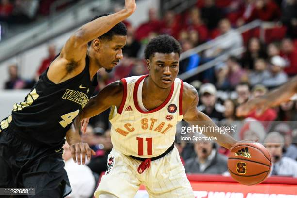 North Carolina State Wolfpack guard Markell Johnson during the college basketball game between Wake Forest Demon Deacons and North Carolina State...