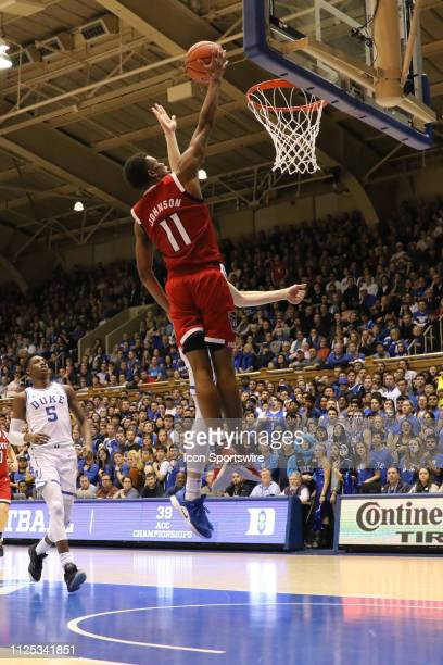 North Carolina State Wolfpack guard Markell Johnson goes for the dunk during the 2nd half of the Duke Blue Devils game versus the NC State Wolfpack...