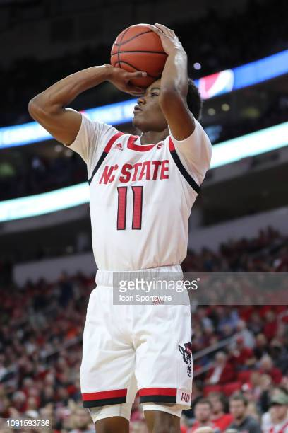 North Carolina State Wolfpack guard Markell Johnson shoots the ball during the 1st half of the NC State Wolfpack game versus the Virginia Cavaliers...