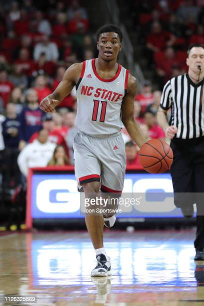 North Carolina State Wolfpack guard Markell Johnson with the ball during the 1st half of the NC State Wolfpack game versus the Boston College Eagles...