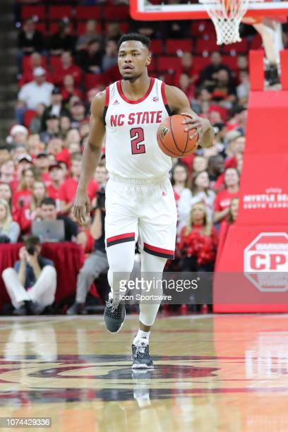 North Carolina State Wolfpack guard Torin Dorn with the ball during the 1st half of the NC State Wolfpack game versus the Auburn Tigers on December...