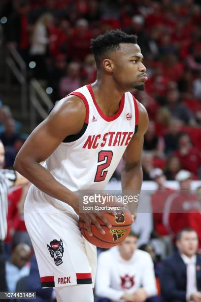 North Carolina State Wolfpack guard Torin Dorn with the ball during the 2nd half of the NC State Wolfpack game versus the Auburn Tigers on December...