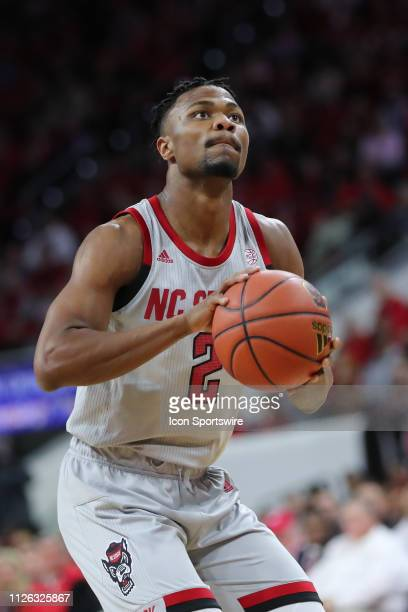 North Carolina State Wolfpack guard Torin Dorn with the ball during the 1st half of the NC State Wolfpack game versus the Boston College Eagles on...