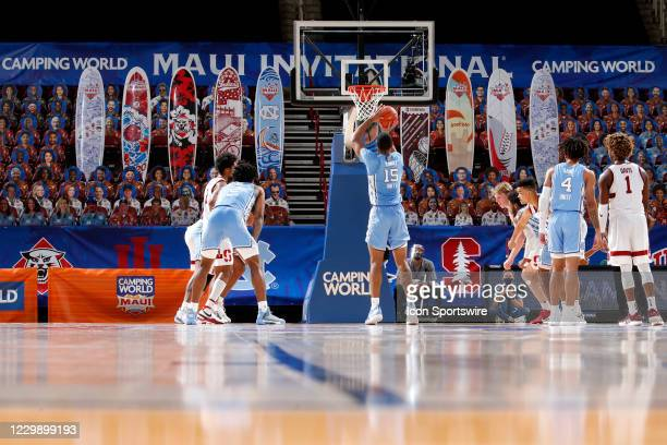 North Carolina Tar Heels forward Garrison Brooks shoots a free throw against the Stanford Cardinal during the second half of the second round of the...