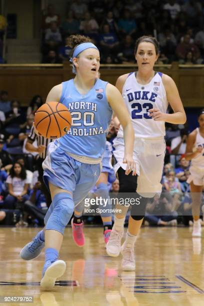 North Carolina Tar Heels guard Leah Church during the 2nd half of the Women's Duke Blue Devils game versus the Women's North Carolina Tar Heels on...