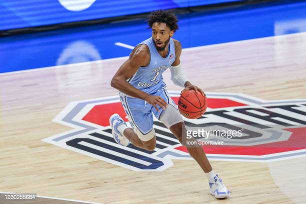North Carolina Tar Heels guard/forward Leaky Black with the basketball during the first half of the mens college basketball game between the Kentucky...