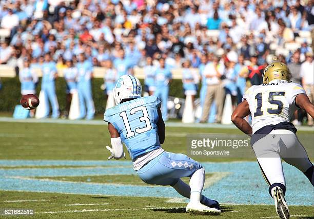 North Carolina Tar Heels wide receiver Bug Howard catches a pass during the NCAA football game between the Georgia Tech Yellow Jackets and the North...