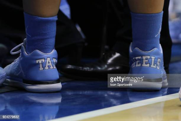 North Carolina Tar Heels Women's athletic shoes during the 2nd half of the Women's Duke Blue Devils game versus the Women's North Carolina Tar Heels...