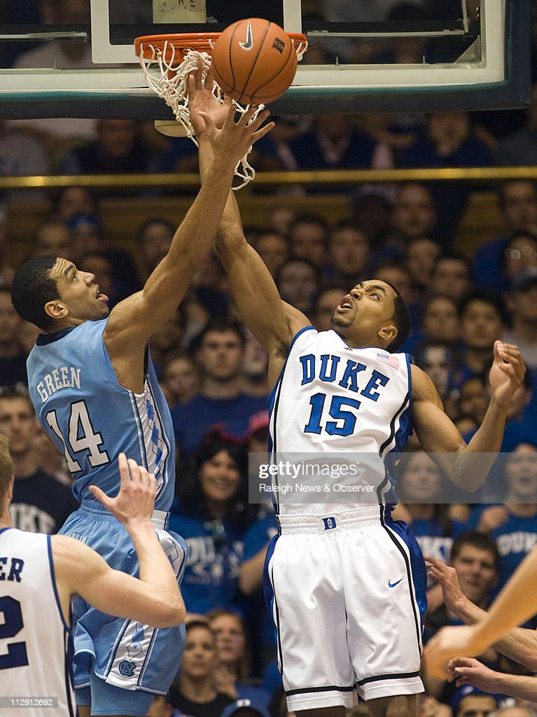 North Carolina S Danny Green Battles With Duke S Gerald Henderson For News Photo Getty Images