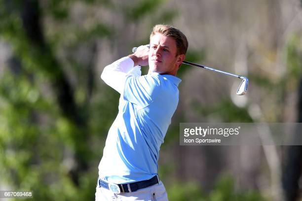 North Carolina's William Register tees off on the 11th hole The third round of the Irish Creek Intercollegiate Men's Golf Tournament was held on...