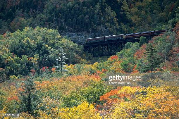 north conway railroad, crawford notch - crawford notch stock pictures, royalty-free photos & images