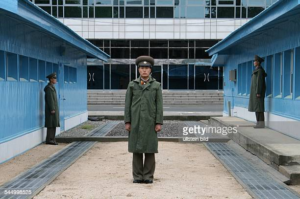 North Korean soldiers guarding the border to South Korea at 38th latitude