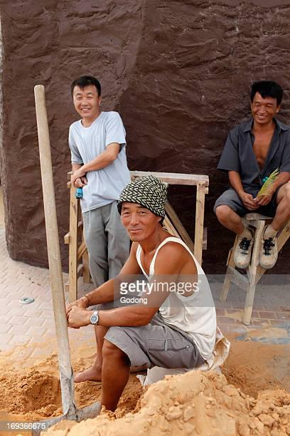 North Corean builders of the African Renaissance Monument Senegal