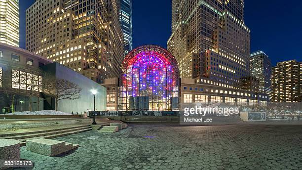 north cove at battery park city (new york) - world financial center new york city stock pictures, royalty-free photos & images