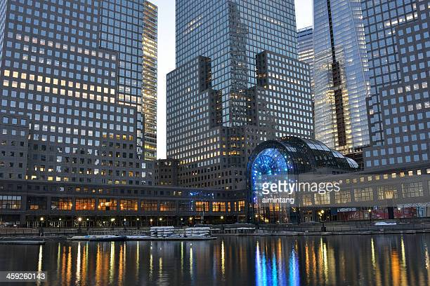 north cove marina at battery park city - world financial center new york city stock pictures, royalty-free photos & images