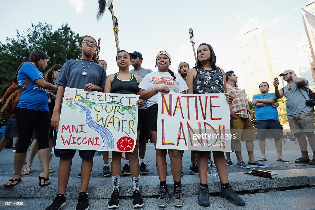 Stop The Dakota Access Pipeline Protest : News Photo