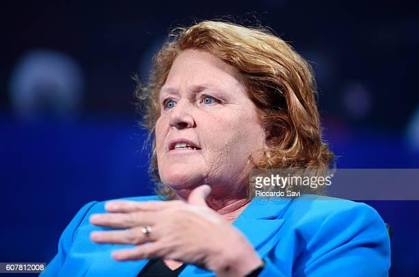 North Dakota Senator Heidi Heitkamp speaks at the 2016 Concordia Summit Day 1 at Grand Hyatt New York on September 19 2016 in New York City