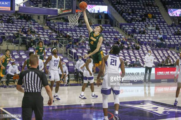 North Dakota State Bison forward Grant Nelson goes to the basket during the game between TCU and North Dakota State on December 22, 2020 at Ed & Rae...