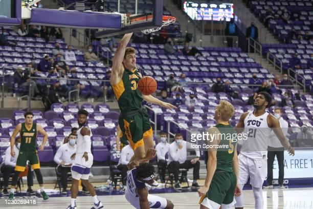 North Dakota State Bison forward Rocky Kreuser dunks during the game between TCU and North Dakota State on December 22, 2020 at Ed & Rae Schollmaier...