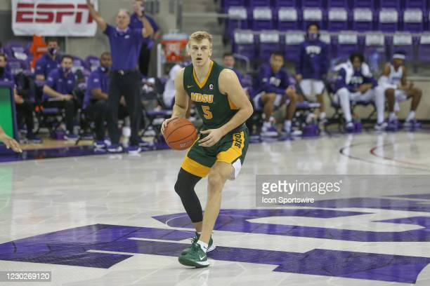 North Dakota State Bison guard Sam Griesel looks to pass the ball during the game between TCU and North Dakota State on December 22, 2020 at Ed & Rae...