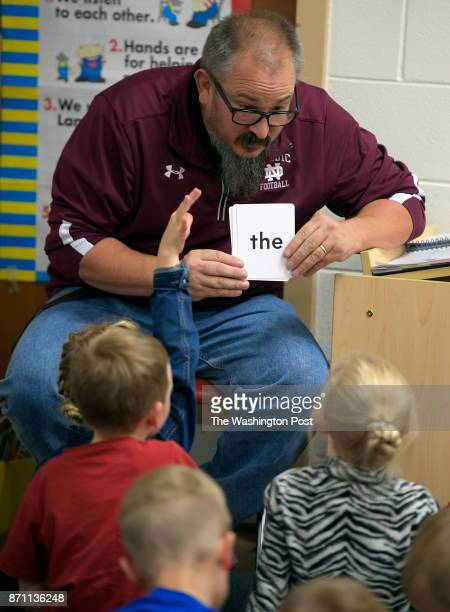 North Dickinson head football coach Mike Christian teaches kindergarten The school is a 300 student K thru 12 public school in a remote part of...