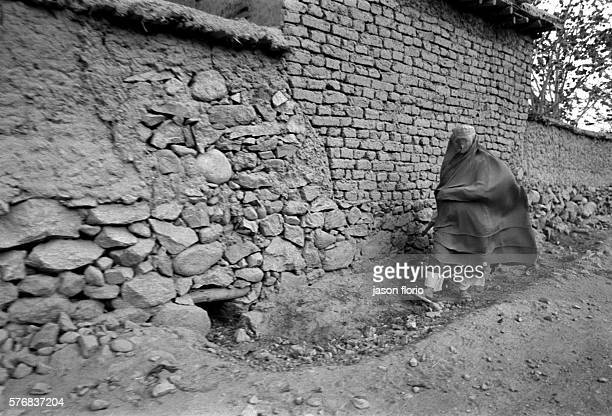 North East of Afghanistan woman wearing a burqa