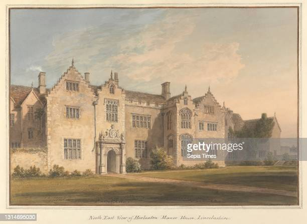 North East View of Harlaxton Manor House, Lincolnshire, John Buckler FSA, 1770–1851, British, and John Chessell Buckler, 1793–1894, British...