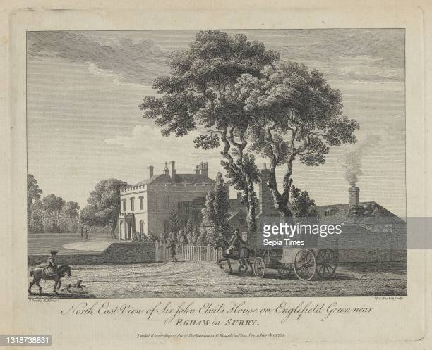 North East View of Sir John Elvil's House on Englefield Green near Egham in Surry, Print made by Michael 'Angelo' Rooker, 1746–1801, British, after...