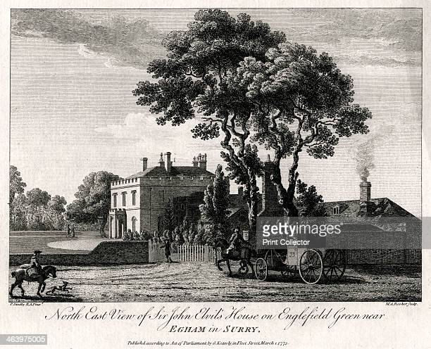 'North East View of Sir John Elvil's House on Englefield Green near Egham in Surry' 1775