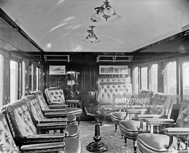 North Eastern Railway club saloon interior