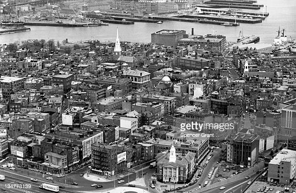 North End from Customs House downtown Boston Massachusetts 1973