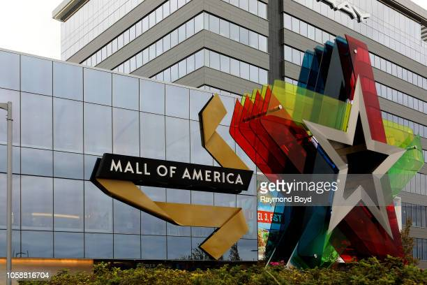 North entrance to Mall Of America in Bloomington, Minnesota on October 14, 2018.