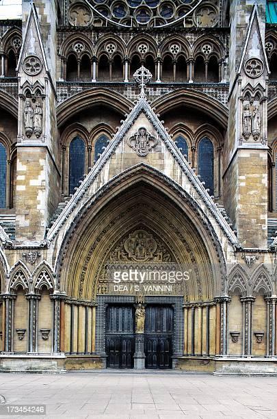 North entrance Westminster Abbey London England United Kingdom