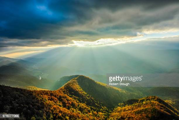 north fork mountain landscape, monongahela national forest, west virginia, usa - monongahela national forest stock photos and pictures