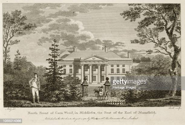 North front of Kenwood House Hampstead London 1788 'North Front of Caen Wood in Middlesex the Seat of the Earl of Mansfield' Artist Heath