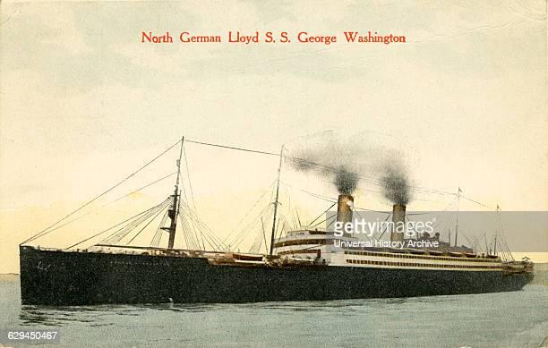 North German Lloyd S. S. George Washington, Postcard, circa 1910.